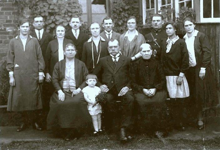 Mikołaj Gracka z rodziną.