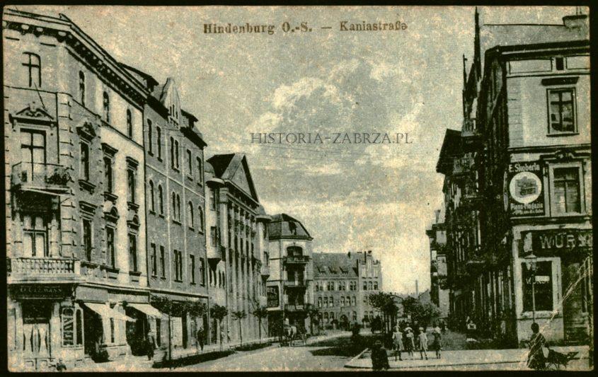 Kania strasse Hindenburg Zabrze  Padlewskiego  Karłowicza