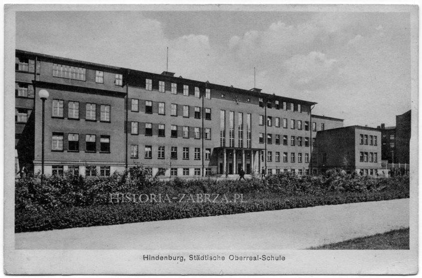 Hindenburg, Städtische Oberreal-Schule.  Gustaw Allinger,    Dominikus Böhm