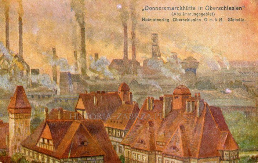 grenzspende Zabrze Hindenburg  Huta Donnersmarck plebiscyt