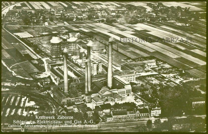 Elektrownia zaborze zabrze  Oberschlesischen Elektrizitätswerke  AEG  Oberchlesische Elektrizitäts und Gas Aktien Gesellschaft  Kraftwerk  Hindenburg