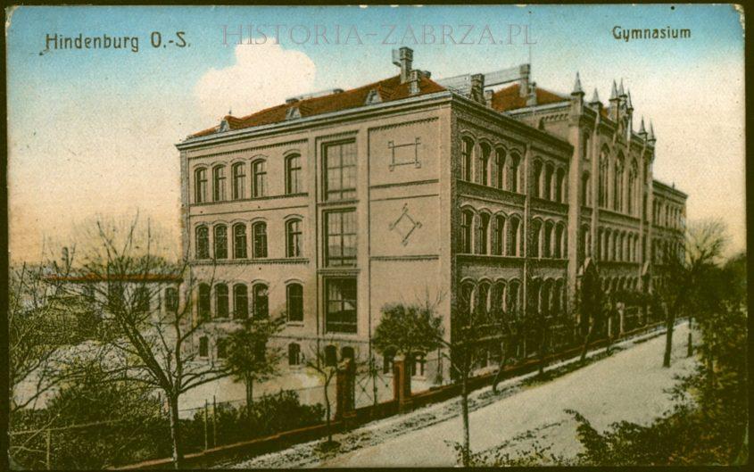 III liceum Gimnazjum Królowej Luizy  Königin Luise Gymnasium in Zabrze Hindenburg O S Zaborze   Paul Drechsler
