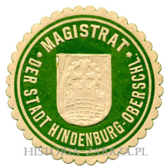 Winieta zalepka magistrat miasta Hindenburg Zabrze