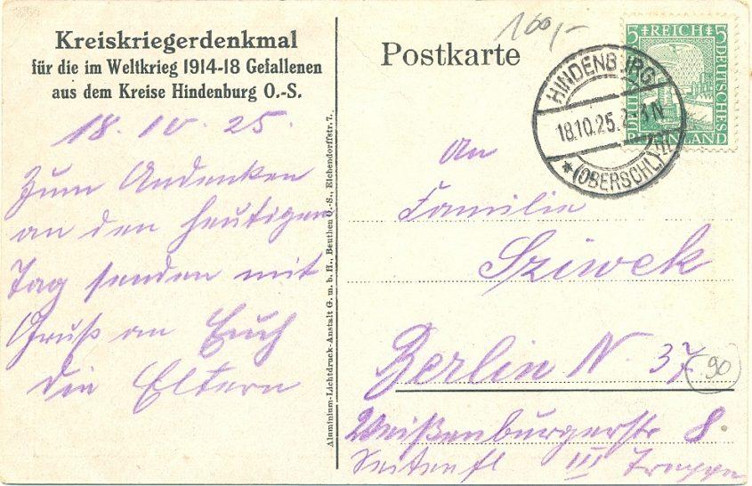 Hindenburg denkmal krieger weltkrieg