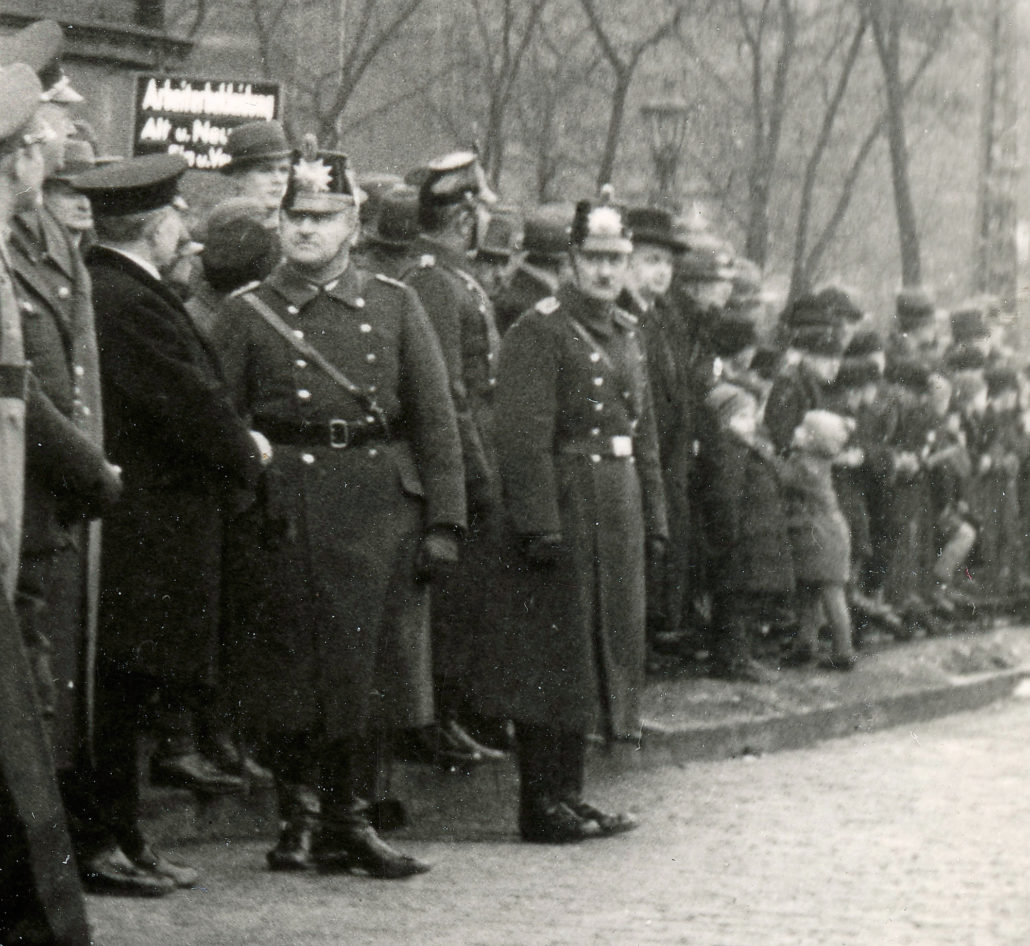 Zabrze, NSDAP, ulica Karola Miarki, plac Teatralny detal