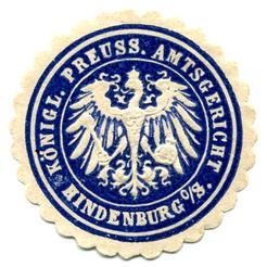 Königlich Preußische Amtsgericht  Hindenburg